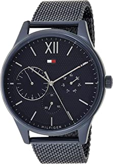 Tommy Hilfiger Men'S Blue Dial Ionic Plated Blue Steel Watch - 1791421