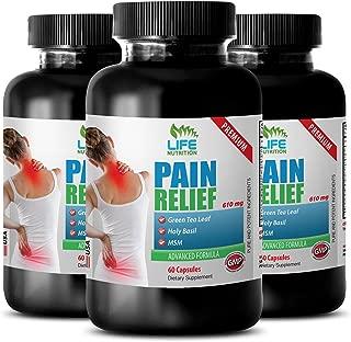 stress relief vitamins - PREMIUM PAIN RELIEF - 610MG - msm bulk powder - 3 Bottle (180 Capsules)