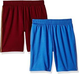 Amazon Essentials Little Boys' 2-Pack Basketball Mesh Shorts, Blue/Red, XS (4-5)
