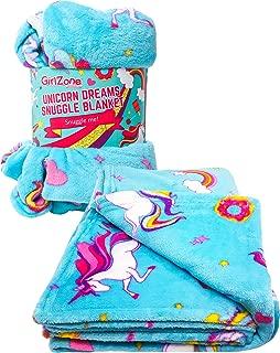 GirlZone: Unicorn Fleece Blanket Throw Blanket for Girls,...