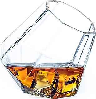 Dragon Glassware Diamant Whiskygläser, 300 ml altmodische Becher, Geschenkverpackung - 2er-Set