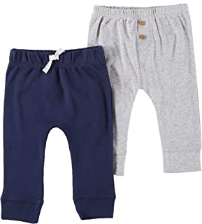 Carter's Baby Boys 2-pk. Heathered & Solid Pull-On Pants 9 Months Navy Blue/Grey