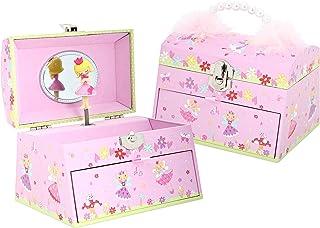 Lucy Locket Portagioie 'Fatina' (portagioie, Carillon Musicale, Scatola Regalo per Bambini) - Rosa Glitterato Carillon per...