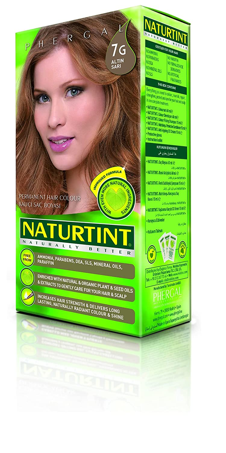 Naturtint Permanent Award Hair Color 7G Golden Amm 1 Blonde of Pack Baltimore Mall