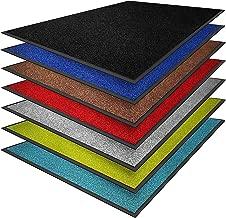 casa pura Dirt Trapper Mats - Absorbent Door Mat | Non-slip & Washable | Super Absorbent Entrance Mat | Suitable for Indoor or Outdoor Use | Black - 40x60cm