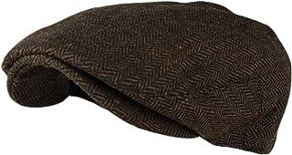 e308177d3ac81 Wonderful Fashion Men's Classic Herringbone Tweed Wool Blend Newsboy Ivy Hat  (Large/X-