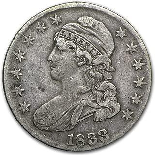 1833 Capped Bust Half Dollar VF Half Dollar Very Fine