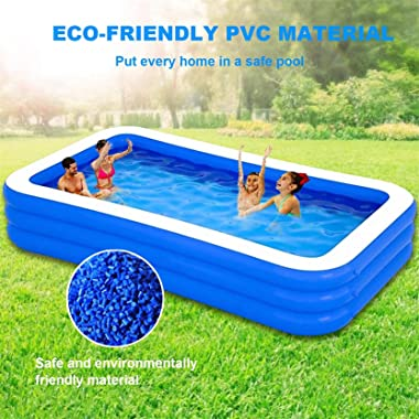 """Swimming Pool Inflatable Above Ground 120"""" X 72"""" X 23.6"""" Swimming Pools for Adults Kids Backyard Blow Up Outdoor"""