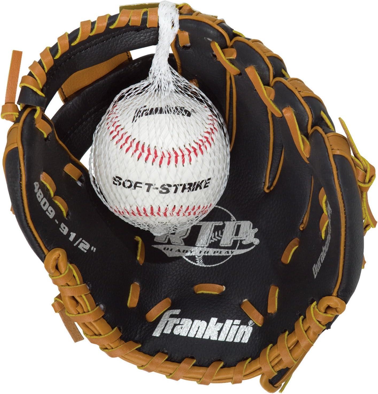 Franklin Sports Black online shop Tan Memphis Mall with Glove Ball Baseball