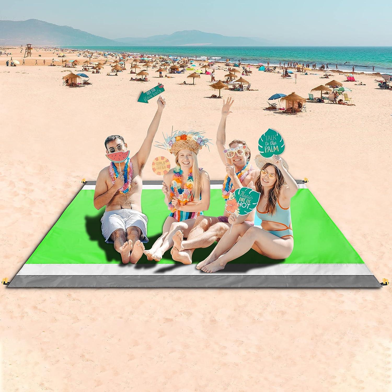 Elegant Beach Super intense SALE Blanket Picnic Blankets Sandproof 79''×83'' Waterproof
