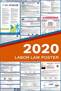 2020 Illinois Labor Law Posters (Laminated) All-in-One State and Federal Approved, OSHA Compliant Vertical 27