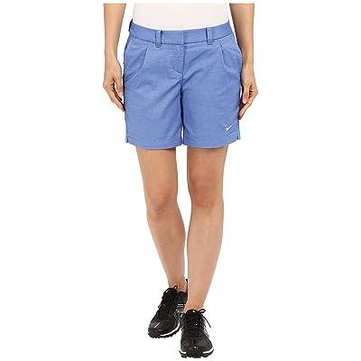 Nike Golf Oxford Shorts (Game Royal/White) Women