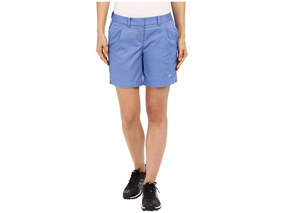 Nike Golf Oxford Shorts (Game Royal/White) Women
