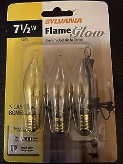 SYLVANIA 7.5-Watt Dimmable B8 Decorative Incandescent Light Bulbs (3-Pack)