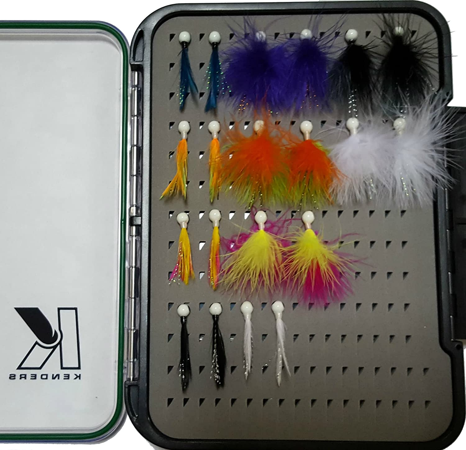 Kenders Outdoors Tungsten Crappie Jig Tackle Special price Feathe Dallas Mall with Box Kit