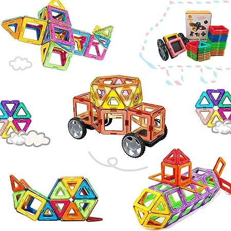 Morkka Bloques de construcción de Bloques magnéticos de 104 Piezas Juegos educativos para niños, de Construction Building Sets (46 pcs)