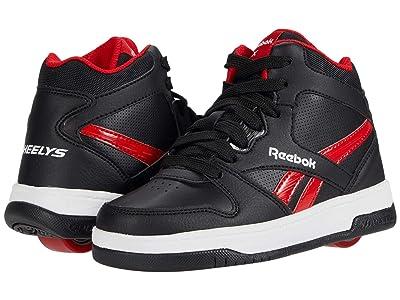 Heelys Reebok BB4500 Mid (Little Kid/Big Kid) (Black/Vector Red/White) Boy