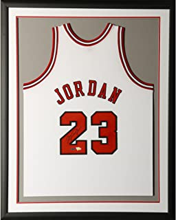 Michael Jordan Chicago Bulls Framed Autographed 1997-98 Mitchell & Ness White Jersey - Upper Deck - Fanatics Authentic Certified