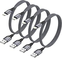iPhone oplaadkabel RAVIAD Lightning kabel 4Pack 1.2M iPhone Charger Cable Nylon Fast Charger Lightning Cable Compatibel...