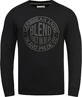 Blend Ilas Men's Sweatshirt Pullover with Print and Crew Neck