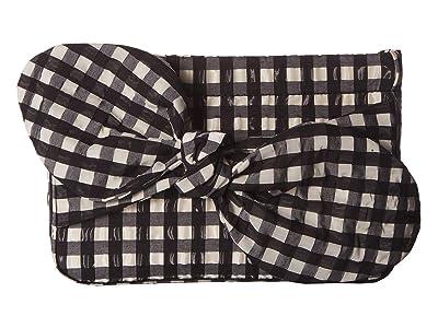 Loeffler Randall Cecily Bow Clutch (Black) Clutch Handbags