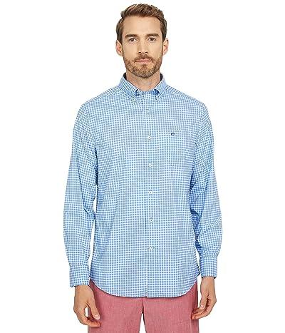 Southern Tide Guarded Gingham Intercoastal Long Sleeve Sport Shirt