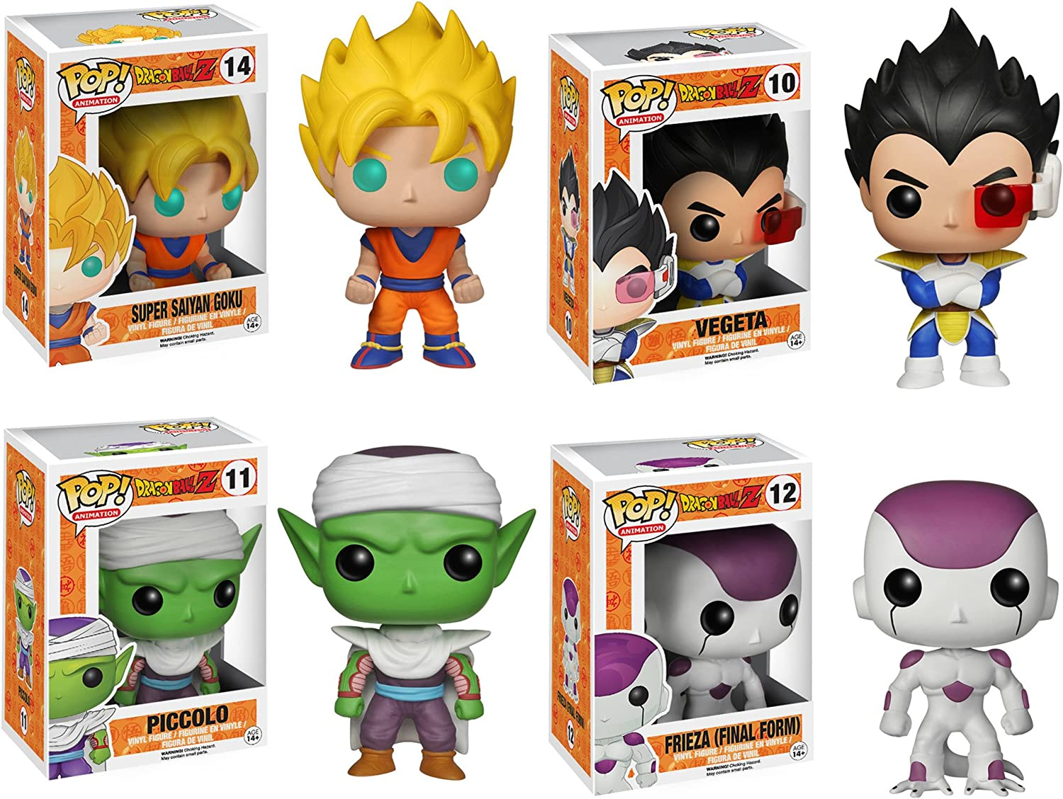 Funko Dragonball Z POP  Anime Vinyl Collectors Set  SS Goku, Vegeta, Piccolo, FF Frieza Action Figure by FunKo