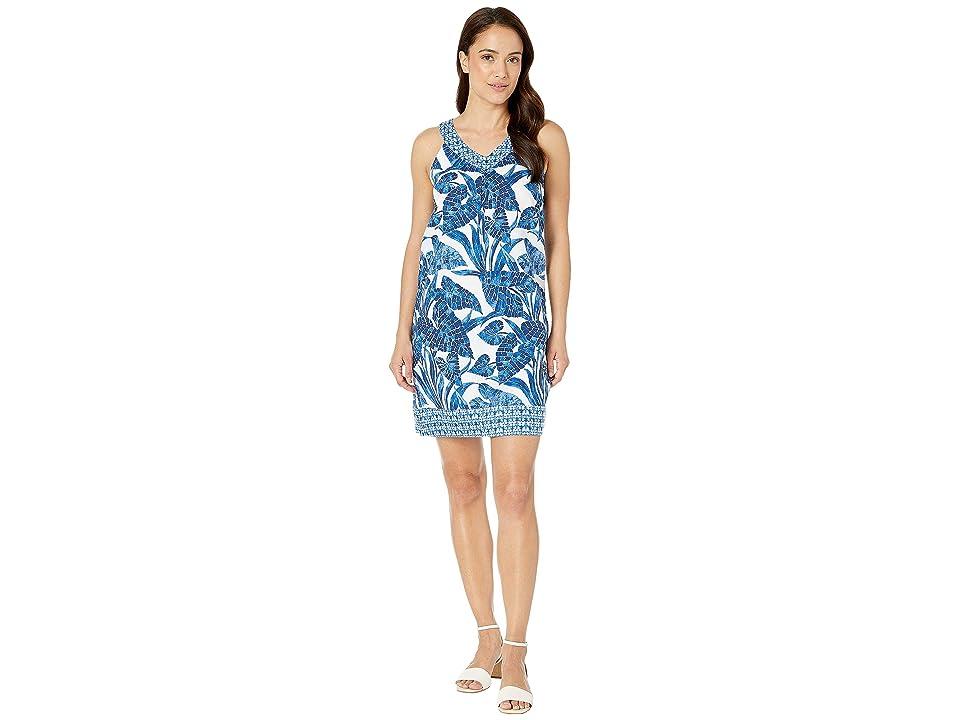 Tommy Bahama - Tommy Bahama Mosaic Palm Mix Short Dress