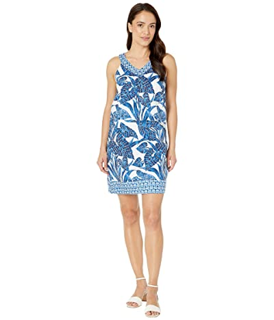 Tommy Bahama Mosaic Palm Mix Short Dress (Island Navy) Women
