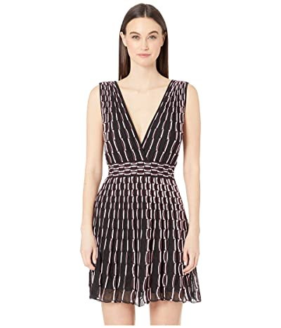 M Missoni Double V Wave Jacquard Short Dress (Pink/Black) Women