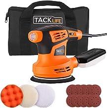 TACKLIFE 5-Inch Random Orbit Sander, 6 Variable Speed 13000RPM Electric Sander, 10 Pcs Sandpapers, 3 Polishing Kit, Effici...