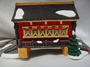 Si. Nicholas Square Christmas Village Collection Covered Bridge 8