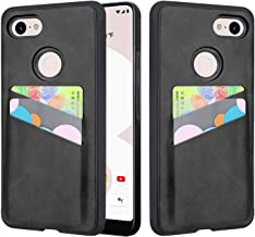Pixel 3XL Case, Lacass Shock Absorbing Slim Fit TPU + PU Leather Wallet Card Case Holder Protective Cover for Google Pixel 3 XL (2018) (Black)