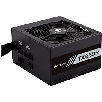 CORSAIR TXM Series, TX650M, 650 Watt, 80+ Gold Certified, Semi Modular Power Supply