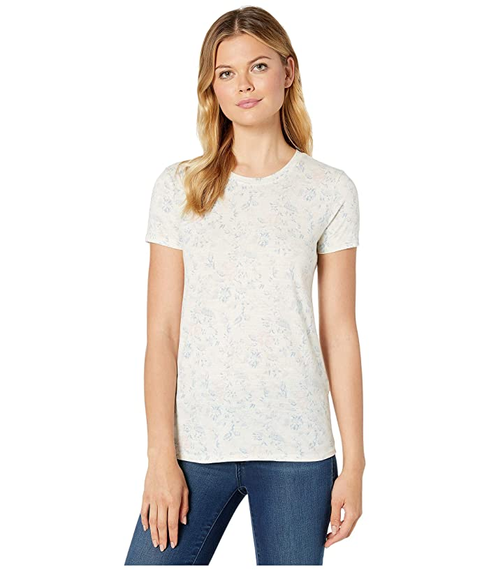 Lucky Brand  All Over Floral Tee (Natural Multi) Womens T Shirt