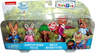 Nickelodeon Peter Rabbit Television Show Poseable Figures, Multi-Figure Adventure Set, 5-Pack, 3 Inches