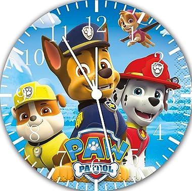 "PAW Patrol Frameless 10"" Wall Clock E74 Nice for Gift or Kids Wall Decor"