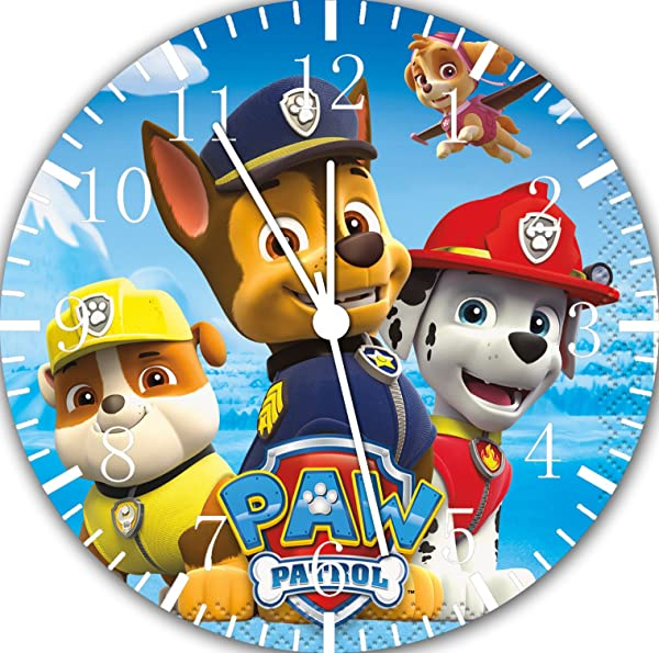 PAW Patrol Frameless Borderless Wall Clock E74 Nice For Gift Or Room Wall Decor