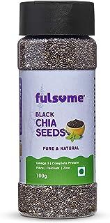 FULSOME - Black Chia Seeds (100G - Sprinkler Jar)
