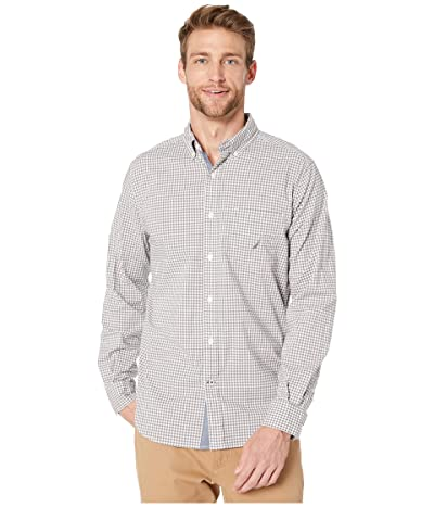 Nautica Casual Gingham Woven (Grey) Men