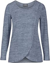 Milk Nursingwear Women's Light Weight Sweater Knit Tulip-Front Nursing Top for Breastfeeding