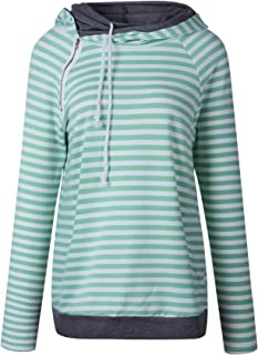 7TECH Striped Panel Hoodie Sweater, Green