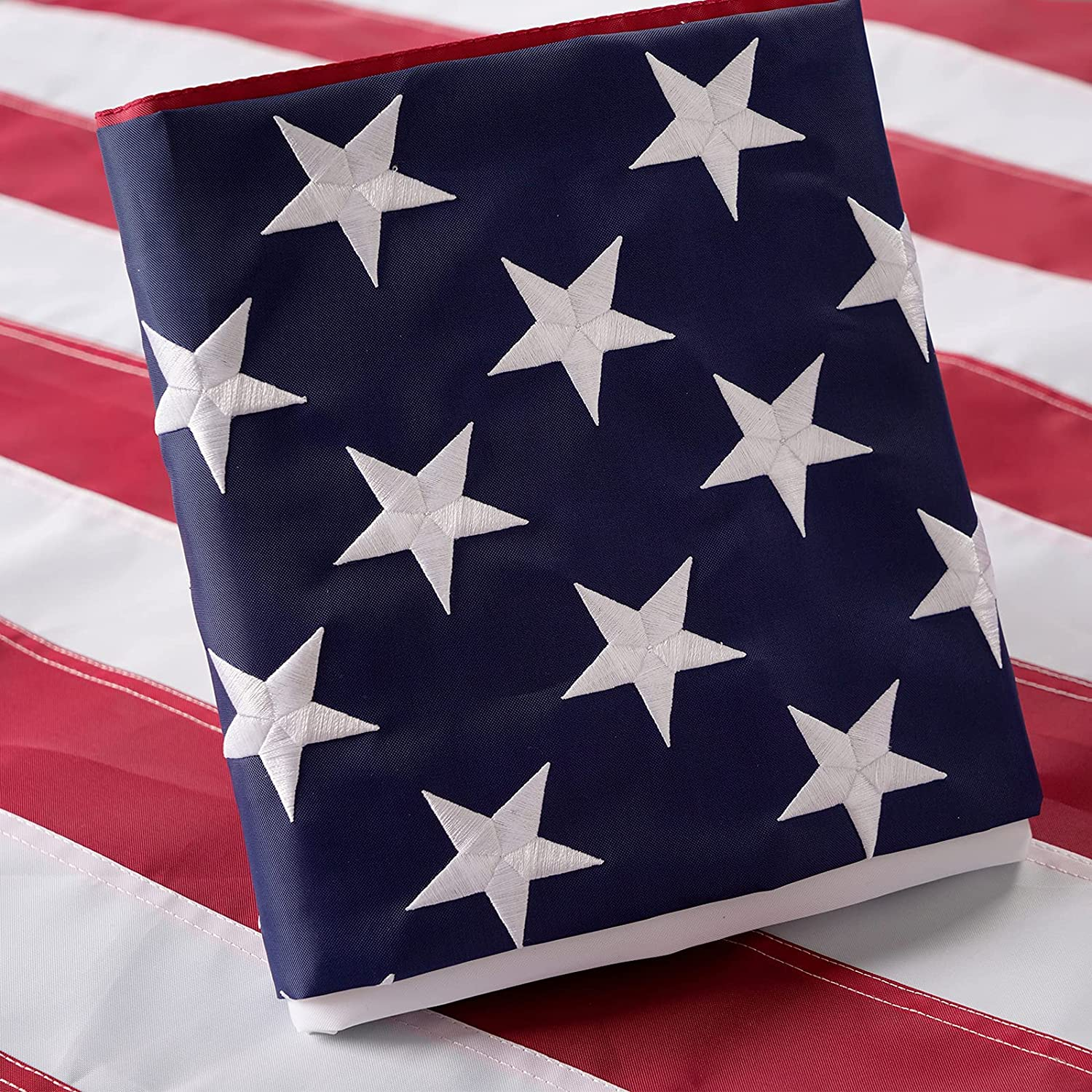Flagolden American US Flag 3x5 Outdoor Challenge the lowest price Embroidered Sta Banner Ft Max 77% OFF
