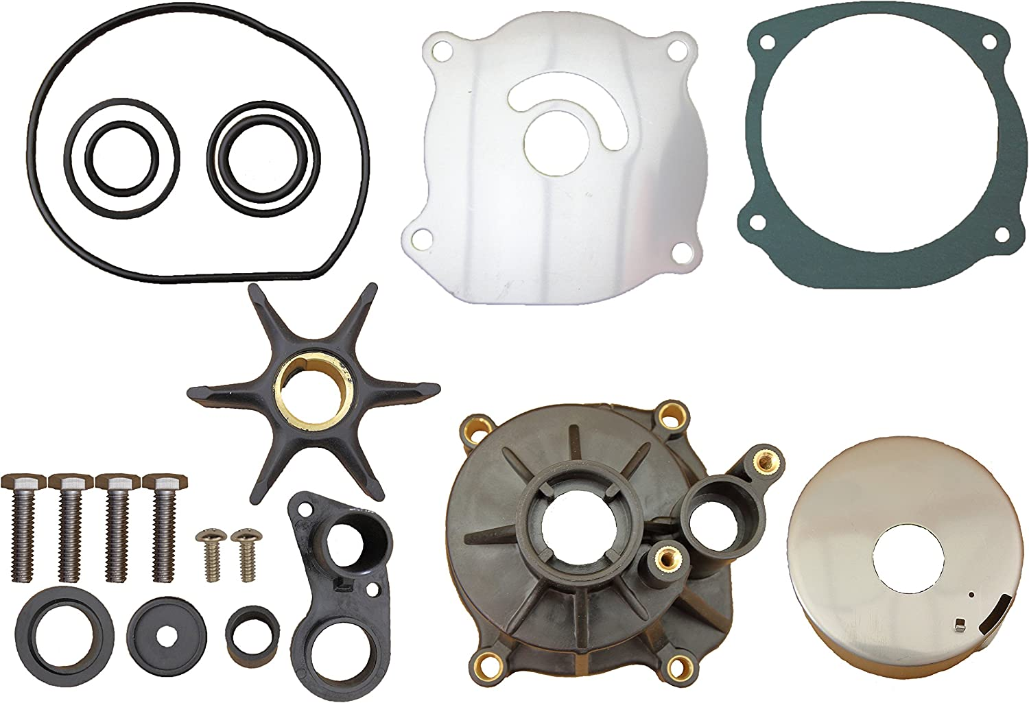 Evinrude Johnson Outboard 85 88 90 115 140 CROSSFLOW V4 Replaces 5001594 Water Pump Kit