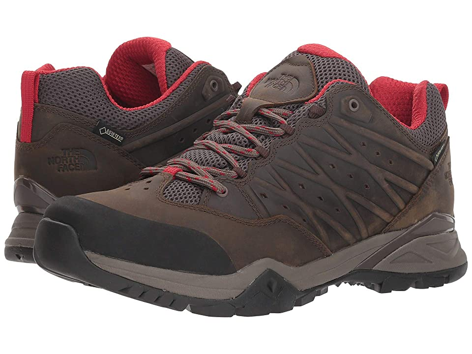 The North Face Hedgehog Hike II GTX(r) (Bone Brown/Rage Red) Men's Shoes