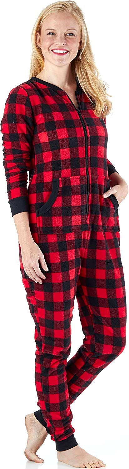 Sleepyheads Women's Fleece Free Shipping Cheap Bargain Gift Gorgeous Non-Footed Pajamas Color Onesie Solid