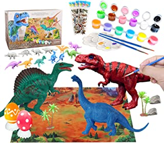 Yileqi Kids Crafts and Arts Dinosaur Painting Kit with Play Mat, Dinosaurs Toys Art and Craft for Boys Girls Age 4 5 6 7 8...