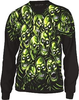 Skull Pile Fantasy All Over Print Long Sleeve T-Shirt