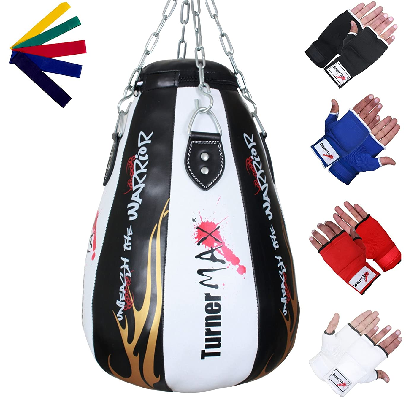 TurnerMAX Maize Bag Vinyl White/Black with Inner Gloves and Stretch Band