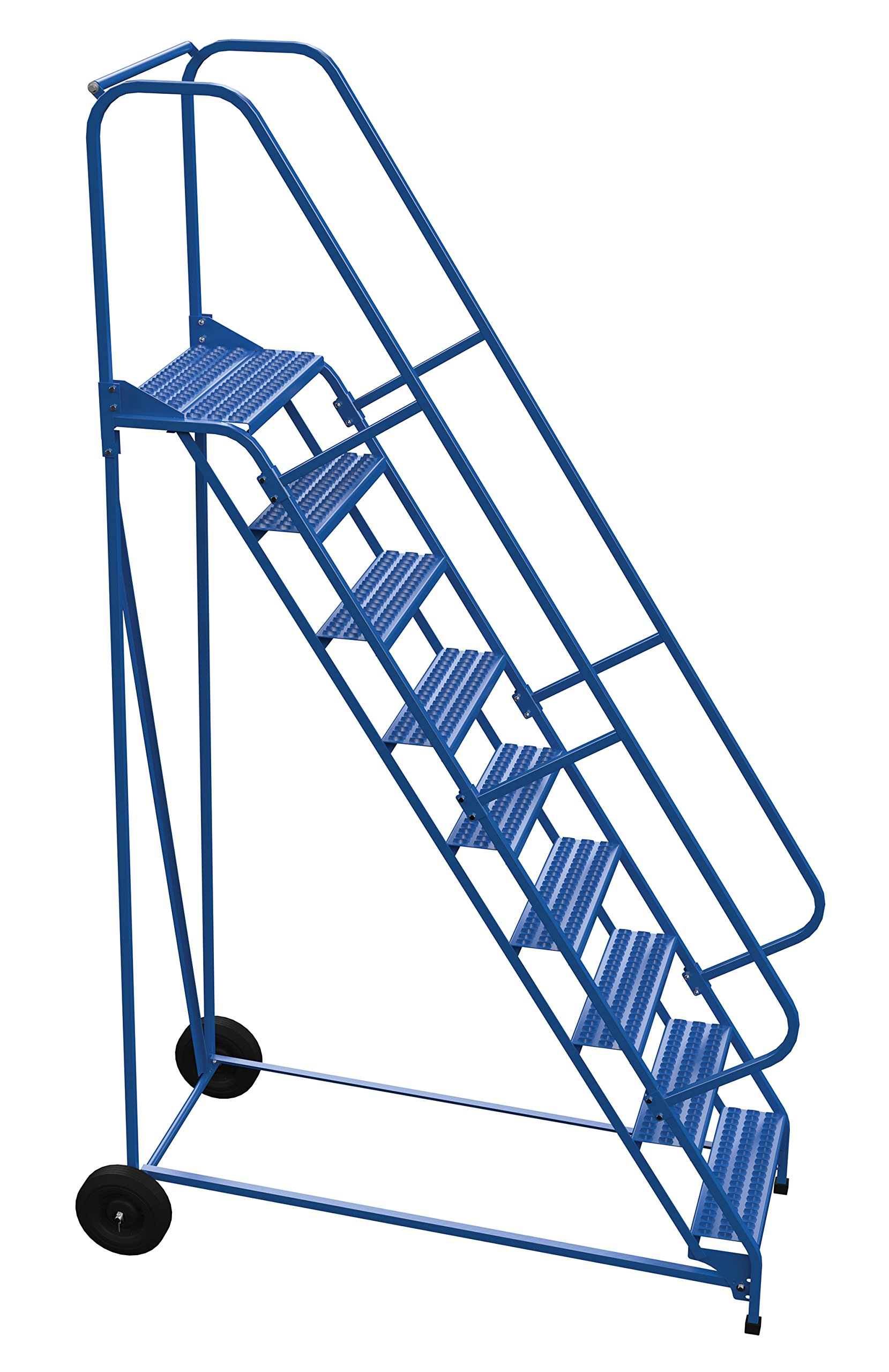 Vestil LAD-RAF-9-24-G - Escalera enrollable plegable (58 grados, 9 peldaños), color azul: Amazon.es: Amazon.es